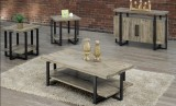 T-5045 - 3Pc Coffee Table Set in Distressed, Brushed Wood Grain Finish by Titus Furniture