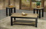 T-5065 - 3 Pc Coffee Table Set  in Distressed Two Tone Wood Finish by Titus Furniture