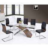 Veneta 7 PC Dining Set - Walnut