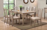 "VENTURA 78"" LEG TABLE & 4 CHAIRS IN GREY WASH FINISH BY WINNERS ONLY"
