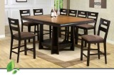 WINCHESTER - COUNTER HEIGHT TABLE & 8 PUB CHAIRS