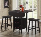 WALLISER - DROP LEAF PUB TABLE 3PC SET