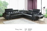 Wendy - 4PC Sectional in Chocolate Leather Gel