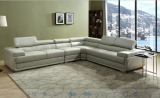 ZENITH - 4PC SECTIONAL IN GREY LEATHER GEL