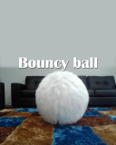 BOUNCY BALL/ YOGA BALL IN WHITE