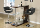 i 2357 - BARSTOOL - BLACK / CHROME METAL HYDRAULIC LIFT