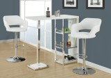 I 2358 - BARSTOOL - WHITE / CHROME METAL HYDRAULIC LIFT