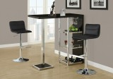 I 2366 - BARSTOOL - BLACK / CHROME METAL HYDRAULIC LIFT