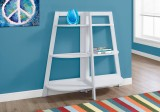 "I 2427 - BOOKCASE - 48""H / WHITE ACCENT ETAGERE"