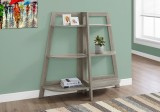 "I 2428 - BOOKCASE - 48""H / DARK TAUPE ACCENT ETAGERE"
