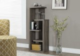 "I 2467 - BOOKCASE - 48""H / DARK TAUPE ACCENT DISPLAY UNIT"