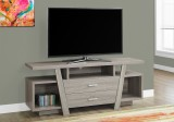 "I 2721 - TV STAND - 60""L / DARK TAUPE WITH 2 STORAGE DRAWERS"