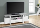 "I 2725 - TV STAND - 60""L / WHITE / CEMENT-LOOK TOP"