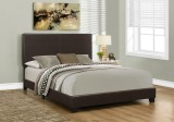 I 5910Q - BED - QUEEN SIZE / DARK BROWN LEATHER-LOOK