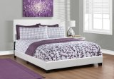 I 5911Q - BED - QUEEN SIZE / WHITE LEATHER-LOOK