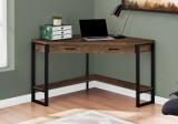"I 7504 - COMPUTER DESK - 42""L / BROWN RECLAIMED WOOD CORNER  BY MONARCH SPECIALTIES INC"