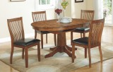 "Broadway 60"" Pedestal Table & 4 Chairs by Winners Only"