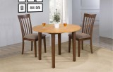 "Delfini 42"" Round Leg Table w/ 2x 8"" drop leaves & 2 Dining Chairs by Winners Only"