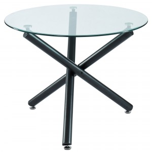 "Suzette 40"" Round Dining Table in Black by Worldwide Homefurnishings Inc"