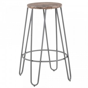 Cliff 26'' Counter Stool in Grey by Worldwide Homefurnishings Inc