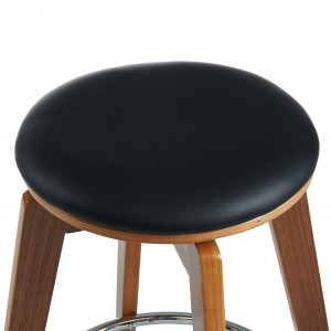 "Rotman 26"" Counter Stool in Black by Worldwide Homefurnishings Inc"
