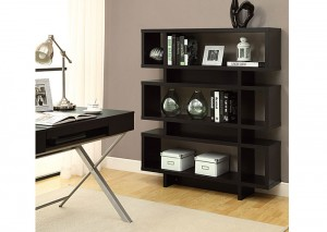 "I 2531 - CAPPUCCINO HOLLOW-CORE 55""H MODERN BOOKCASE"