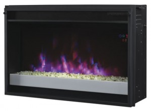 ENTERPRISE ELECTRIC FIREPLACE ENTERTAINMENT UNIT IN WHITE