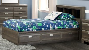 264 Series Twin Mates Bed with Bookcase Headboard