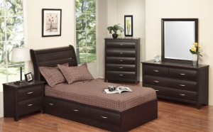 343 SERIES - MOCHA - YOUTH BEDROOM SUITE IN ESPRESSO