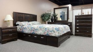 467 SERIES - WINDSOR - STORAGE 6PC BEDROOM SUITE IN DARK BROWN