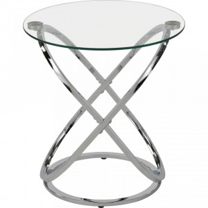 Carlyn Accent Table in Chrome by Worldwide Homefurnishings