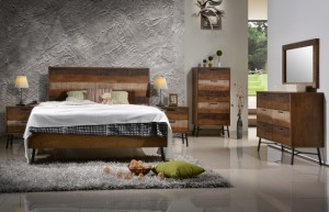 Avalon 6Pc King or Queen Bedroom Suite in Distressed Finish by Winners Only