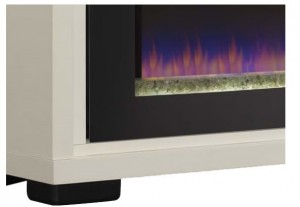 Brickell Electric Fireplace in Antique White by Classic Flame