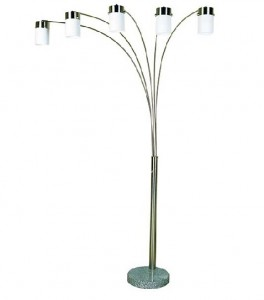 FL3031 - 5-ARM ARC LAMP (DIMMER SWITCH)