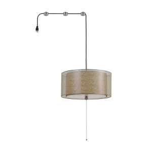 Cal Lighting FX-3527-SW2 Swag 2 Light 18 inch Clear Pendant Ceiling Light