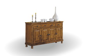 "GRAND ESTATE 58"" SIDEBOARD IN RUSTIC HAND RUBBED FINISH BY WINNERS ONLY"