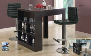 I 1344 - Counter Height Table in Cappuccino
