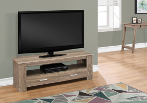"I 2602 - TV STAND - 48""L / DARK TAUPE WITH 2 STORAGE DRAWERS"