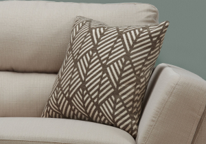 "I 9202 - PILLOW - 18""X 18"" / DARK TAUPE GEOMETRIC DESIGN / 1PC"