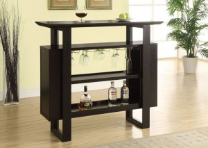 "I 2548 - CAPPUCCINO 48""L BAR UNIT WITH BOTTLE AND GLASS STORAGE"