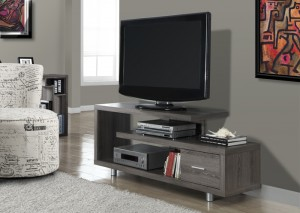 "I 2574 - DARK TAUPE RECLAIMED-LOOK 60""L TV CONSOLE"