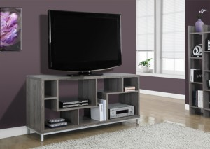 "I 2578 - DARK TAUPE RECLAIMED-LOOK 60""L TV CONSOLE"