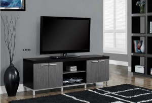 "I 2590 - Black / Grey Hollow-Core 60""L TV Console"