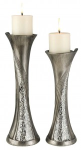 "OK-4218-C - 14/16""H ANDROMEDA CANDLE HOLDERS"