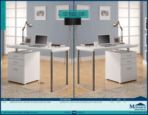 "I 7027 - WHITE HOLLOW-CORE RIGHT OR LEFT FACING 48""L DESK"