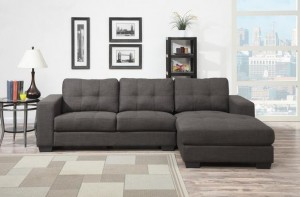 RAM SECTIONAL WITH CHAISE IN LIGHT GREY BY EZTIA