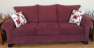 RASPBERRY SOFA & LOVESEAT - CUSTOM MADE