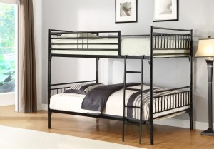 MARS - TWIN/ TWIN DETACHABLE METAL BUNK BED IN BLACK