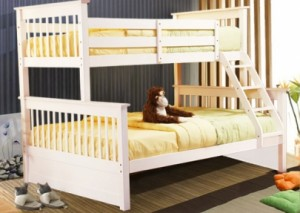 PALOMA - TWIN / DOUBLE BUNK BED FRAME - WHITE