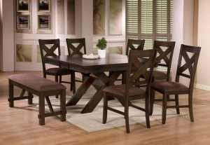 WILLIAMSON 8 PC DINING TABLE SET BY EZTIA